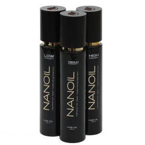 Öl für Haar Nanoil in drei Ausführungen
